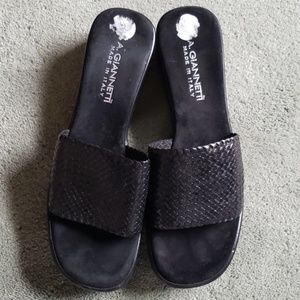 EUC A. Giannetti Sz 9 Made in Italy black sandals